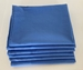 Stack of Six Folded Blue Pillowcases Standard Size 180 Thread Count