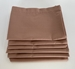 Stack of Six Folded Chocolate Brown Pillowcases Standard Size 180 Thread Count