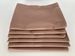 Stack of 6 Chocolate Brown Pillowcases, Standard Size 180 Thread Count